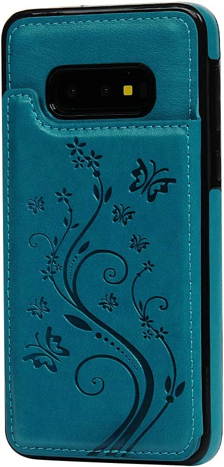 VoguSaNa Kompatible f/ür Handyh/ülle Samsung Galaxy S10e H/ülle Wallet Case Flip Cover PU Leder Tasche Schmetterling Muster Schutzh/ülle Handytasche Skin St/änder Klapph/ülle Schale Bumper F/ächer-Grau