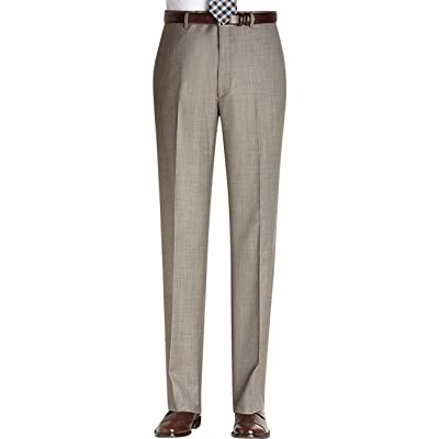 Perry Ellis Taupe Textured Flat Front New Men's Finished Dress Pants