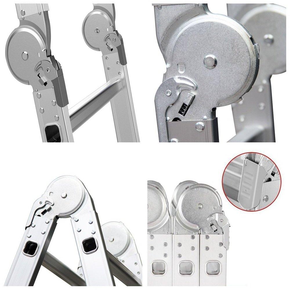 /Échelle simple 6 en 1 Mctech /Multifonctionnelle /340////470/cm/-/En aluminium pliante et r/églable
