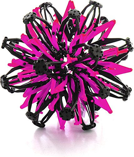 VIP Home Essentials Mini Sphere Toy Rings Stretch Expanding Ball Toys Funny for Kids - Pink Black