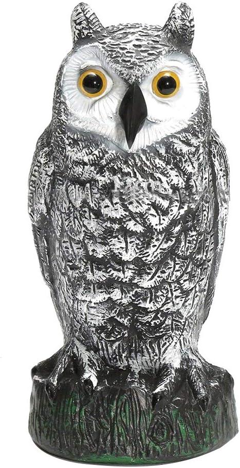 wjtygzhl señuelo de búho para Caza, disuasorio para pájaros, Gatos, Cuervos, espantapájaros para jardín