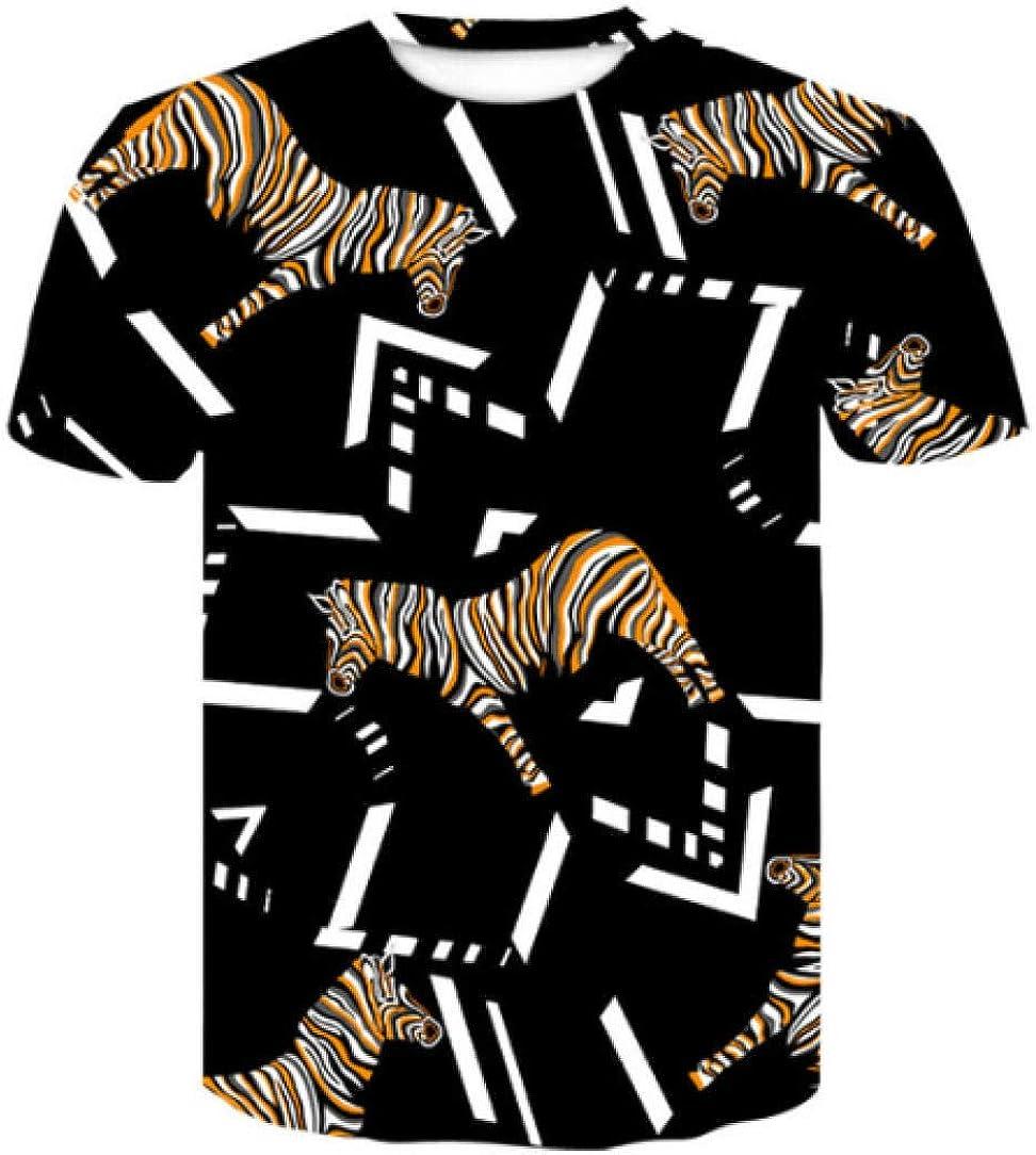 Exquisito Estampado de Aves patrón de impresión Digital 3D Moda de Manga Corta Camiseta de algodón de Seda de Calidad Camiseta Masculina: Amazon.es: Ropa y accesorios