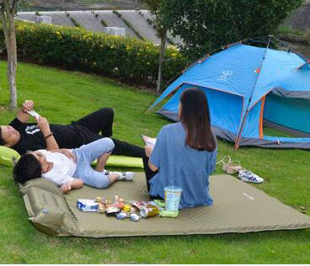 HANJIANJIS Lit Gonflable Camping de Montagne Plage en Plein air Tapis Gonflable vert -