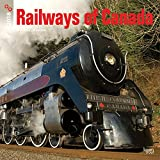 Railways of Canada 2018 12 x 12 Inch Monthly Square Wall Calendar, Canada Railroads Train