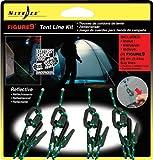 Nite Ize Figure 9 Zelt-Set 4 Reflektierenden Seilen und 4 aus Kunststoff, NI-F9T4-03-01