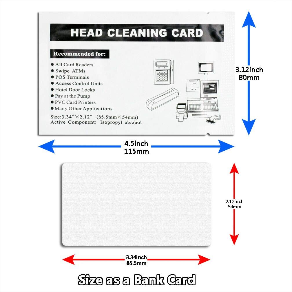 30 Pack Swipe Head Cleaning Cards for Magnetic Stripe Credit Card Readers, Writer Encoder Head, POS Swipe Card Reader Terminal by Ansoon (Image #4)