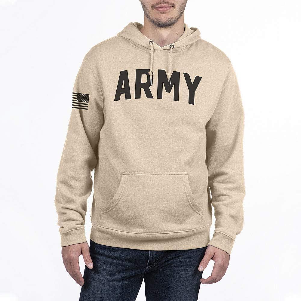Elite Fan Shop Military Hoodie Sweatshirt Sand