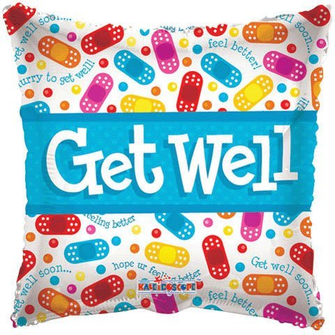 Conver USA 19085-18SP Get Well Band Aids Packed Balloon, 18