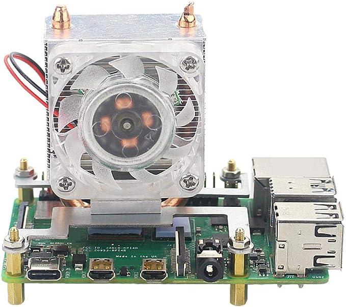 belukies Ice Tower - Ventilador para CPU con luz LED de Colores para Raspberry Pi 4 Modelo B & Raspberry Pi 3B + ...