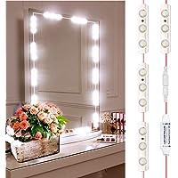 Led Mirror Lights, INKERSCOOP 12Ft 25Groups 75Leds Vanity Light Strip Kit,  DIY Bathroom Makeup