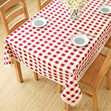 Red Checkered Table Cloth/Coffee Table Cloth-A 140x180cm(55x71inch)