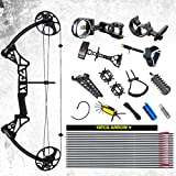 """Compound Bow Package,M1,19""""-30"""" Draw Length,19-70Lbs Draw Weight,320fps IBO Via Fedex Service Delivered Within 7Days"""