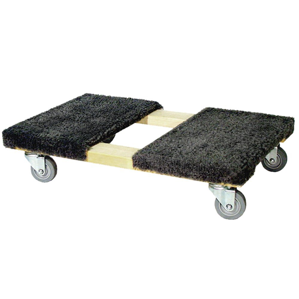 CD-C35 Professional Heavy Duty Moving Dolly with Carpeted Top |Carpeted ends - Provide cushioning and protects furniture from scuffing |900 Lb Capacity |19'' x 32'' | by Forearm Forklift
