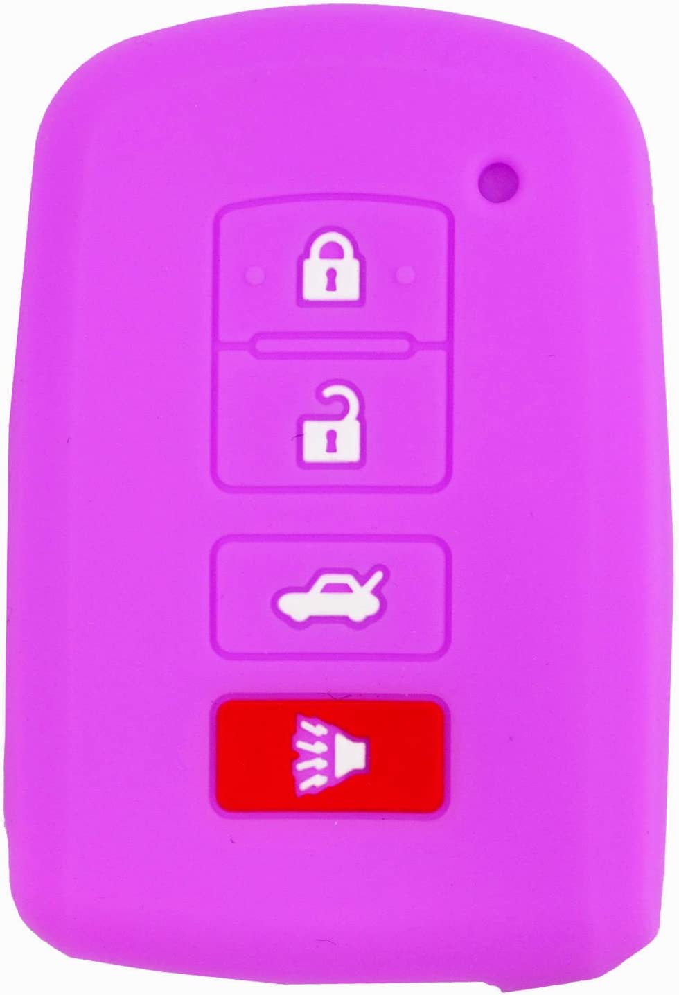 qualitykeylessplus Blue Silicone//Rubber Protective Cover for 4 Button Toyota Remotes FCC ID HYQ14FBA with Free KEYTAG