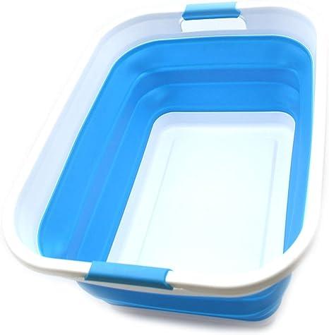 4 Colores a Elegir para TYLINK Cesta de lavander/ía Plegable Grande para Lavar Ropa Sucia Bolsa de Almacenamiento Plegable con Asas de Transporte Cesta de Ropa de Lino Plegable de 65 L