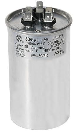 EverGrow 5 10 20 30 40 50  uf//MFD 370-440 VAC volts round Run Capacitor 50//60 Hz
