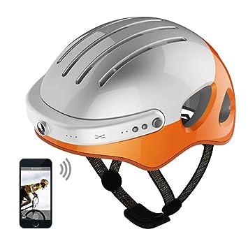 NBZH Inteligente Casco De Bicicleta Bluetooth Manos Libres con Cámara Frontal Y Altavoz Bluetooth para Ciclismo