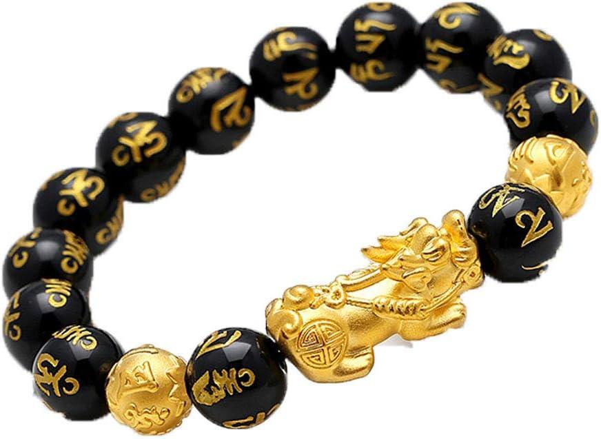 NRELNZOY Pulsera Unisex de Feng Shui, Pulsera de Prosperidad, Pulseras de Piedra talladas a Mano Que atraen la Riqueza, Joyas de Feng Shui, atrae bendiciones, Salud, Suerte y protección