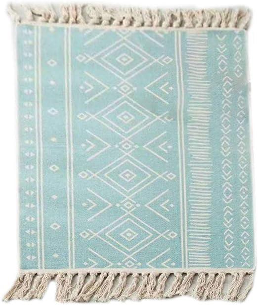 suoryisrty Alfombras de algodón de Lino de Estilo étnico Alfombras ...