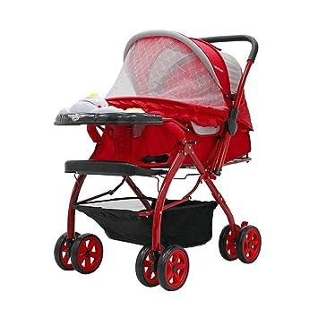 ZHAOJING Los cochecitos de bebé se pueden sentar tumbado ...