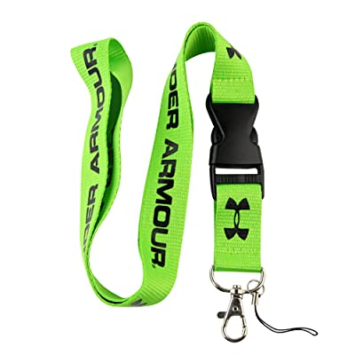 Green & Black Logo Keychain Key Chain Black Lanyard Clip with Webbing Strap Quick Release Buckle (PCK-004): Automotive