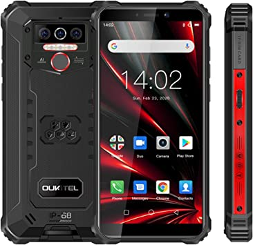 OUKITEL WP5 Pro Android 10.0, 4GB RAM+64GB ROM Movil Antigolpes, Batería Grande 8000 mAh Móvil Libre Resistente, 5.5 Pulgadas, Cámara Triple Telefono, Smartphone con 4 Linternas LED Súper Brillantes: Amazon.es: Electrónica