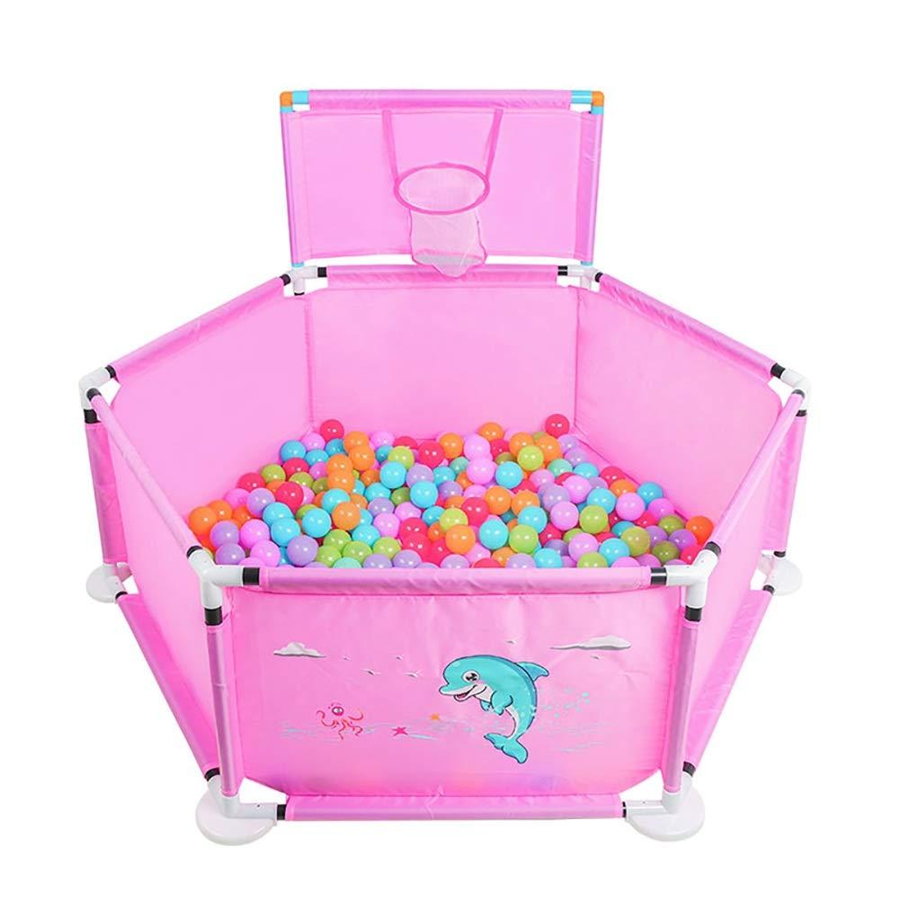 定番 子供6-Panel Playpenポータブル洗えるプレイセンターフェンス 子供6-Panel、赤ちゃんの幼児のための通気性メッシュ B07QC79NJL、屋内と屋外-pink B07QC79NJL, 永幸堂:ec42bd56 --- a0267596.xsph.ru