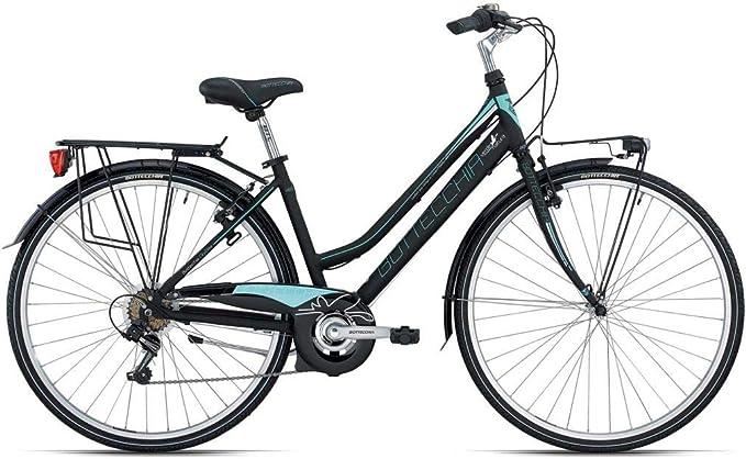 Bottecchia Bicicleta de Mujer 28 Dos Tubos 200 TY21 6 V Negro/Verde H44: Amazon.es: Deportes y aire libre