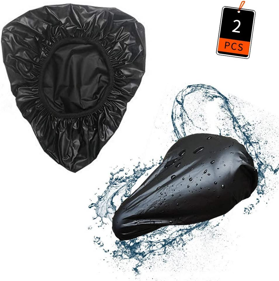 10.6x8.3x3.9inch//27x21x10cm Lifreer 2 Packs Bike Seat Cover Waterproof Bike Saddle Cover Bicycle Cover with Elastic