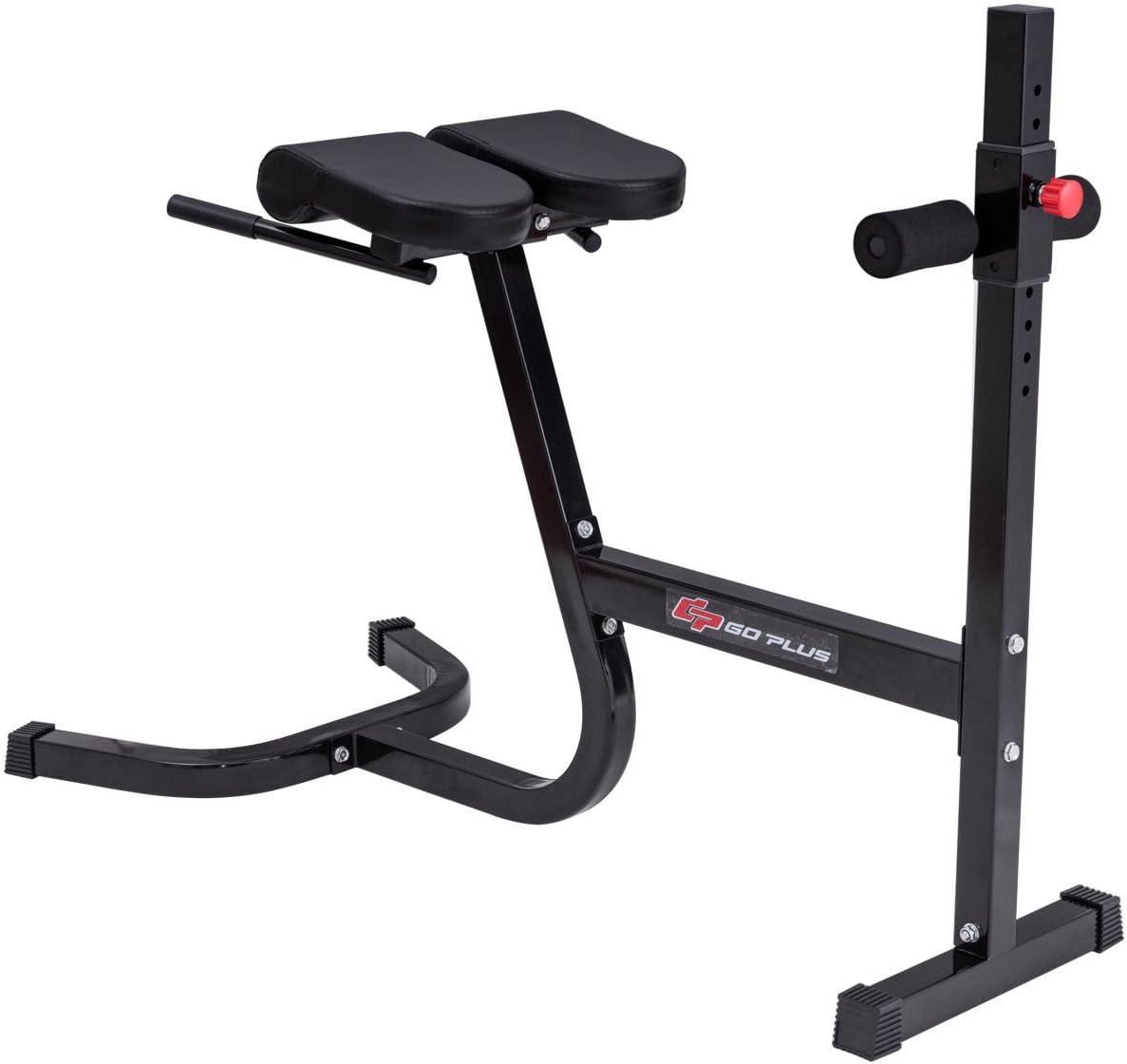 GOPLUS Banc à abdominaux réglable entraînement Utilitaire AB Incline Banc de Musculation Plat 8-Position Capacité de 199,6Kilogram