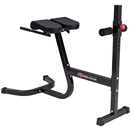 Goplus Adjustable Roman Chair Hyperextension Bench Abdominal Back Exercise  Workout Fitness For Home U0026 Gym