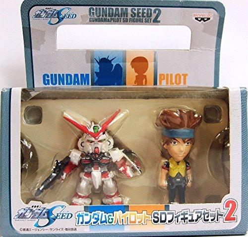 Mobile Suit Gundam SEED Gundam u0026 pilot SD Figure Set 2 ( Gundam Astray Red Frame u0026 low Gyuru )