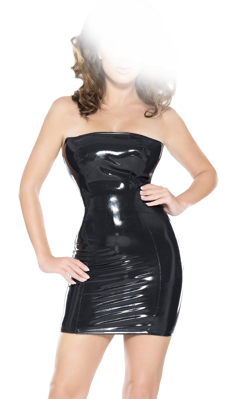 insistline datex/látex vestido schulterfrei schulterfrei vestido con cremallera d74dd4