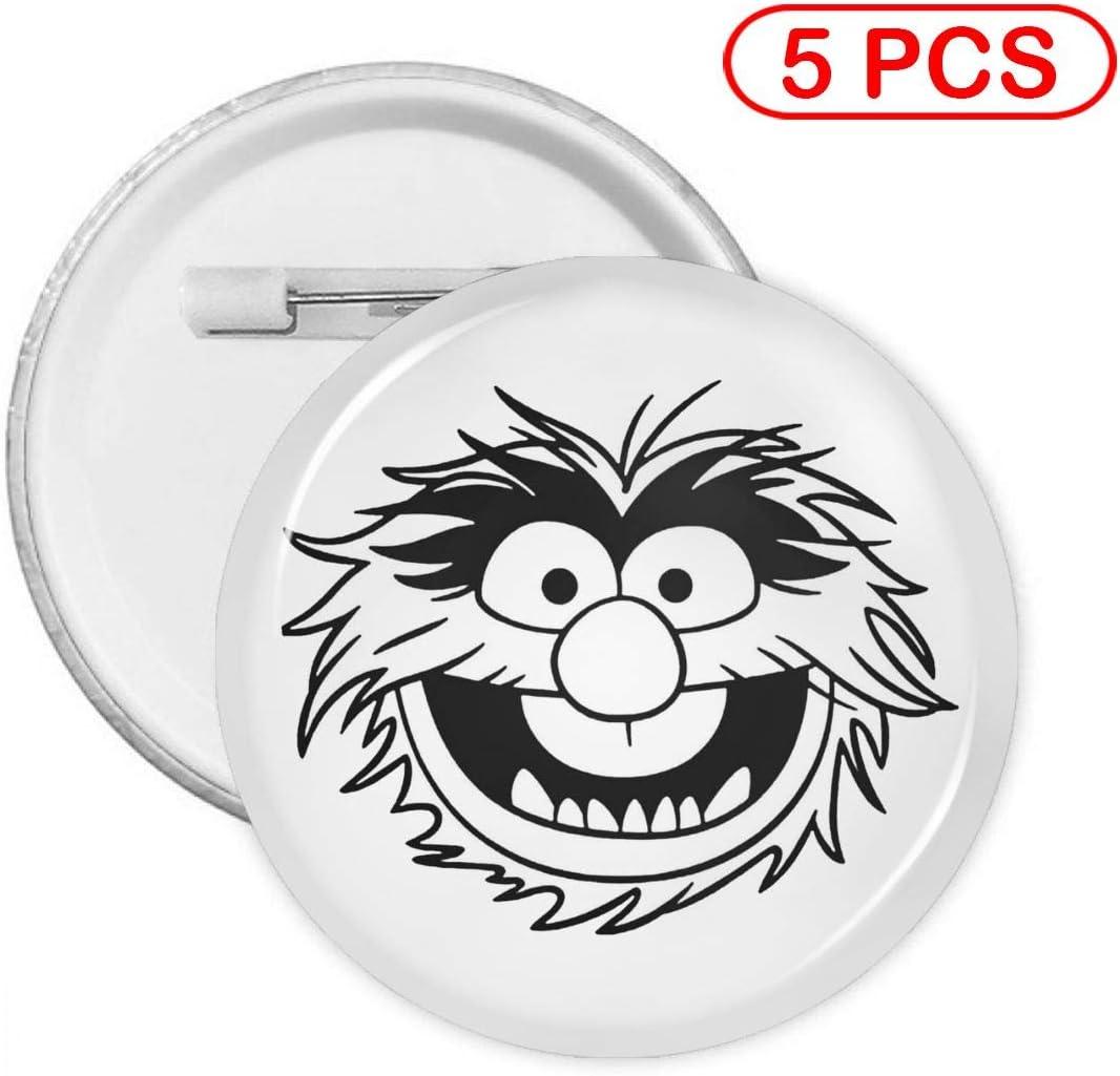 Metal Pins Circular Badge Holder Clothing Decoration Gift Multi Pack Muppet Animal Decal Round Badge