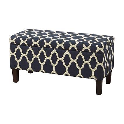 Incredible Amazon Com Homepop Upholstered Decorative Storage Ottoman Ibusinesslaw Wood Chair Design Ideas Ibusinesslaworg