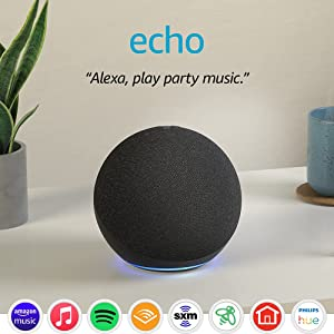 Echo (4th Gen)   With premium sound, smart home hub, and Alexa   Charcoal