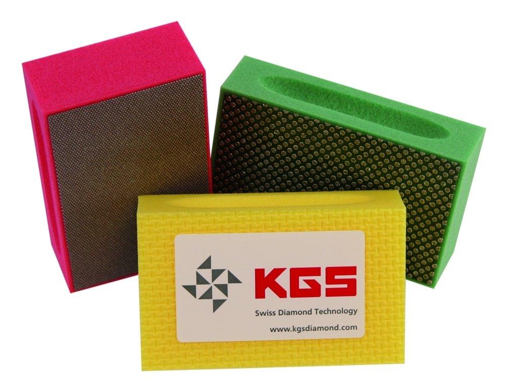 KGS Diamond Hand Polishing pads (3 Pack, Combination set (grit 60, 200, 400)) by KGS (Image #2)