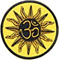 Sun Aum Om Ohm Hindu Yoga Indian Lucky Logo Sign Hippie Retro Biker Jacket T-shirt Vest Patch Sew Iron on Embroidered Badge Custom