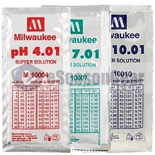 Milwaukee 3x20ml, pH4 pH7 pH10 Buffer Solution for pH Meter/Tester Calibration