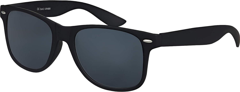 Balinco Hochwertige UV400 CAT 3 CE Nerd Sonnenbrille matte Rubber Retro Vintage Unisex Brille mit Federscharnier für Herren & Damen (Schwarz - Smoke): Amazon.de: Bekleidung -