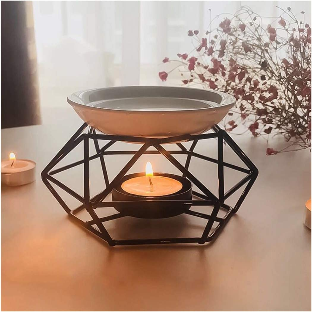 SXCHEN Delicate Romantic Ceramic Tealight Candle Holder Oil Burner, Essential Oil Incense Aroma Diffuser Furnace Home Decoration European Style Bird's Nest Stylish Design