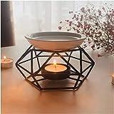 SXCHEN Delicate Romantic Ceramic Tealight Candle Holder Oil Burner, Essential Oil Incense Aroma Diffuser Furnace Home…