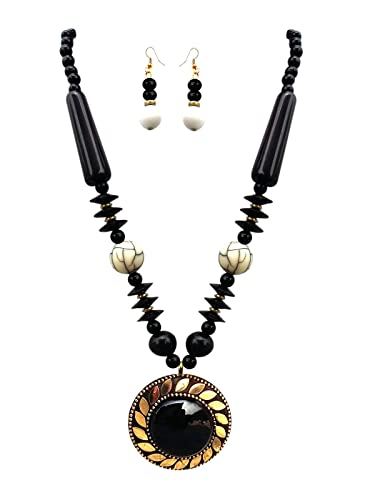 jewellery necklaces black necklace andino beads bead white beaded designs design pearl