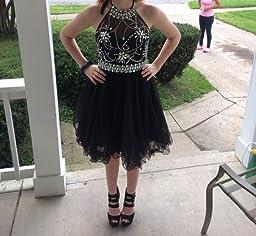 Amazon.com: Musever Women's Halter Short Homecoming Dress