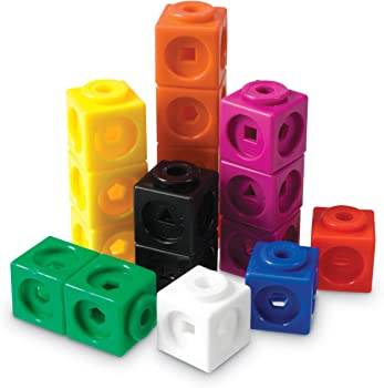 Learning Resources Mathlink Toy Set of 100 Cubes