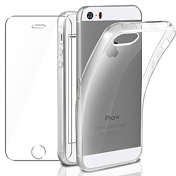 AROYI Funda iPhone SE Transparente & iPhone 5 Cristal Film ...