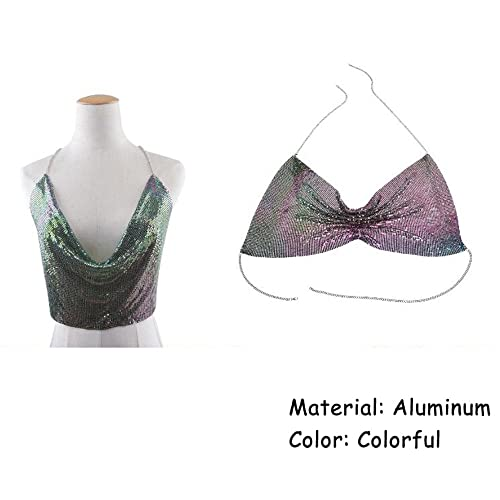 074148c5f58bc Amazon.com  Qiuqian Fashion Bling Bra Chest Belly Chains Body Jewelry  Summer Beach Club Party Bikini Top Chain Vest Gift for Women  Jewelry