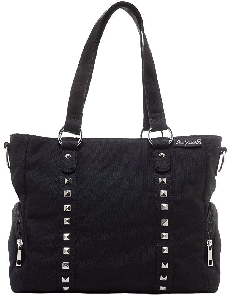 1db27eb48f1d Sourpuss Leda Canvas Stud Purse Black  Handbags  Amazon.com