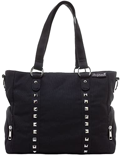 c273b8273a Sourpuss Leda Canvas Stud Purse Black  Handbags  Amazon.com
