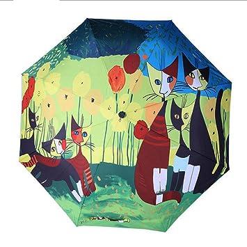 GSAYDNEE Pequeño Parasol Fresco Tres Plegables Paraguas para Gatos Protección Solar Sombrilla Creativa (Color : Yellow): Amazon.es: Hogar